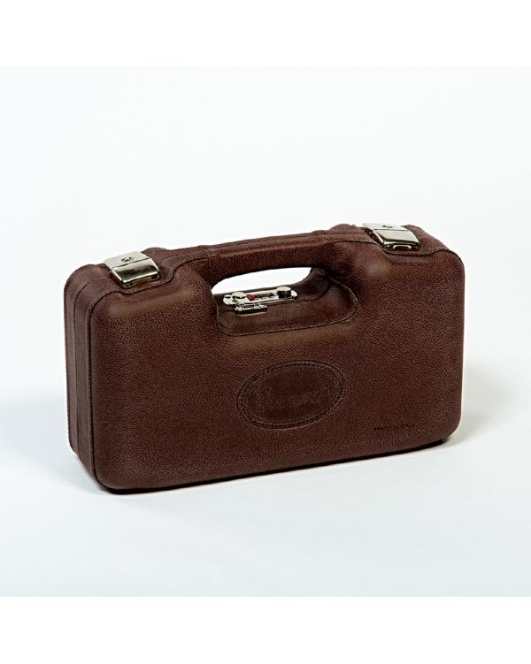 Leather shotshell case-holds 125 unit