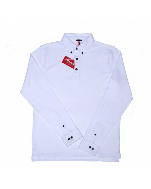 Cotton polo with long sleeve