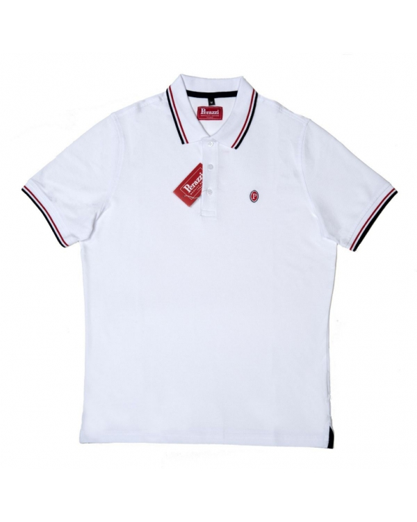 Cotton polo with short sleeve