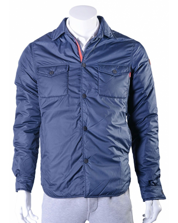 Thermal button-down shirt jacket