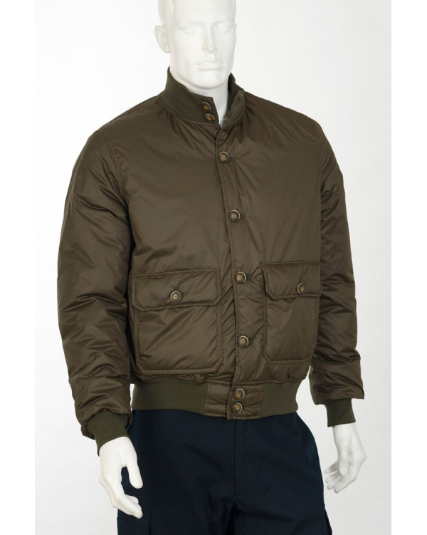 Winter button-down padded bomber jacket
