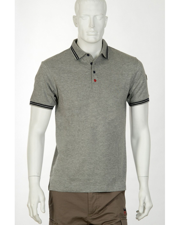 Short-sleeved jersey polo shirt