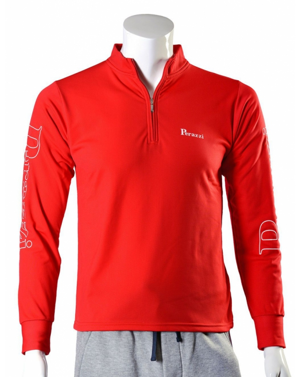 Long-sleeved technical shirt with zip