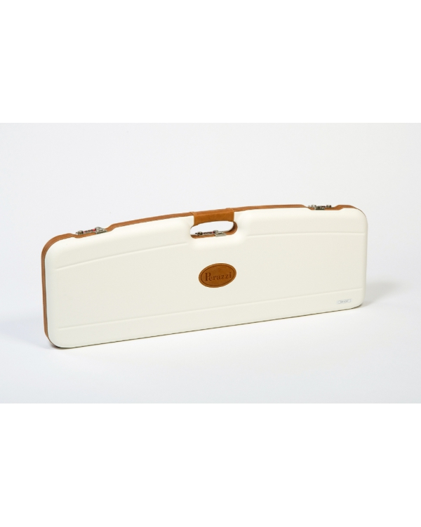 Valigetta in ABS bianca con riporti in pelle per 1 fucile